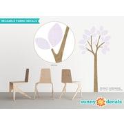 Sunny Decals Modern Tree Wall Decal; Light Purple