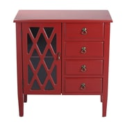 Heather Ann 4 Drawer Cabinet; Red