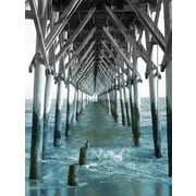 Star Creations ''Teal Docks I'' by Jairo Rodriguez Photographic Print on Wrapped Canvas