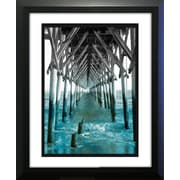 Star Creations ''Teal Docks I'' by Jairo Rodriguez Framed Photographic Print