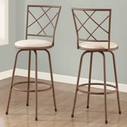 Monarch Specialties Inc. Bar Stool with Cushion (Set of 2); Brown / Beige