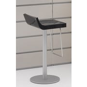 Argo Furniture Basi Bar Stool; Glossy Dark Gray