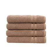 Linum Home Textiles Denzi 4 Piece Hand Towel Set (Set of 4); Latte