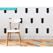 Sunny Decals Four-Triangle-Arrow Wall Decal (Set of 32); Black
