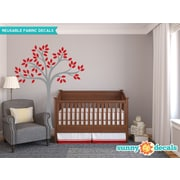 Sunny Decals Beautiful Tree Wall Decal; Red