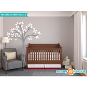 Sunny Decals Beautiful Tree Wall Decal; White