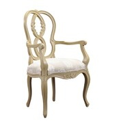 French Heritage Parc Saint-Germain Arm Chair; Beige / Light Sand