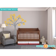 Sunny Decals Beautiful Tree Wall Decal; Yellow/Orange