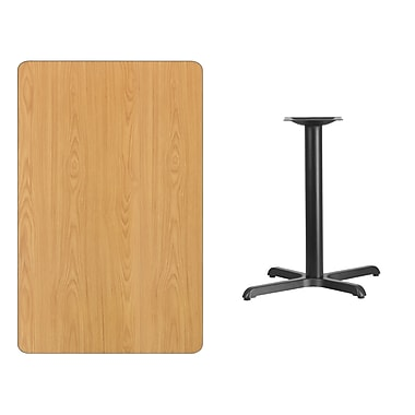 Flash Furniture 30'' x 48'' Rectangular Laminate Table Top, Natural, with 22'' x 30'' Table Height Base (XUNT3048T2230)