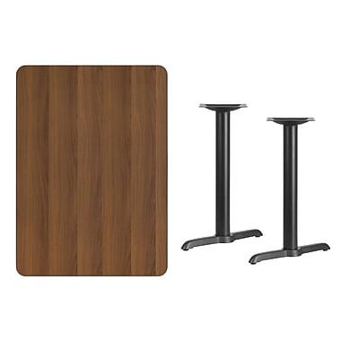 Flash Furniture – Table en stratifié noyer de 30 x 42 po avec 2 bases de 5 x 22 po (XUWA3042T0522)