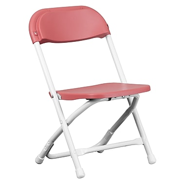 Flash Furniture Kids Plastic Folding Chair, Burgundy (YKIDBY)