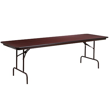 Flash Furniture – Table pliante rectangulaire avec surface en stratifié acajou de 30 x 96 po (YT3096MELWAL)