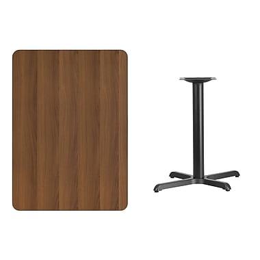Flash Furniture – Table en stratifié noyer de 30 x 42 po avec base de 22 x 30 po (XUWA3042T2230)