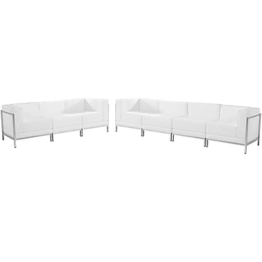Flash Furniture Hercules Imagination Series Leather Sofa Set, 5 Pieces, White (ZBIMAGSET17WH)
