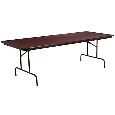 Flash Furniture 36'' x 96'' Rectangular Folding Banquet Table, High-Pressure Mahogany Laminate (YT3696HIGHWAL)