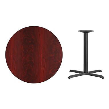 Flash Furniture – Table bistro ronde en stratifié de 36 po avec base de 30 x 30 po, acajou (XURD36MAT3030)