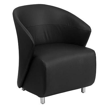 Flash Furniture – Fauteuil visiteur en cuir noir (ZB1BK)