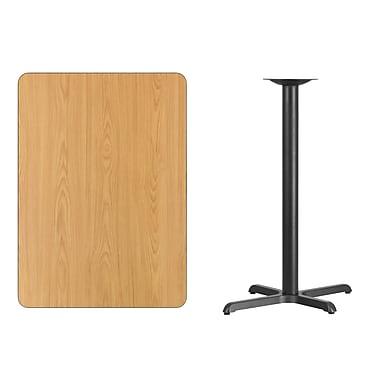 Flash Furniture – Table bistro en stratifié au fini naturel de 30 x 42 po avec base de 22 x 30 po (XUNT3042T2230B)