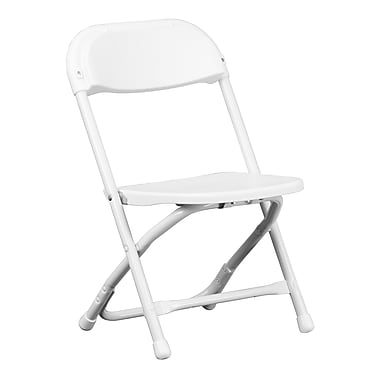 Flash Furniture Kids Plastic Folding Chair, White (YKIDWH)