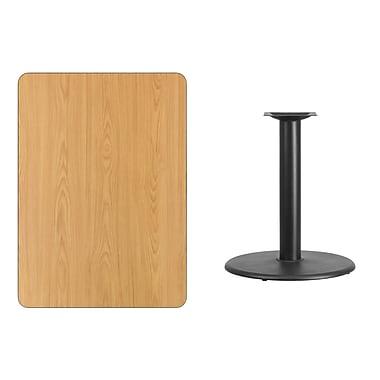 Flash Furniture – Table en stratifié au fini naturel de 30 x 42 po avec base circulaire de 24 po (XUNT3042TR24)
