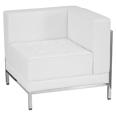 Flash Furniture – Siège contemporain en coin en cuir série HERCULES Imagination, côté droit, blanc (ZBIMAGRTCNRWH)