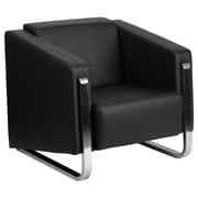 Flash Furniture  Hercules Gallant Series Contemporary Leather Chair, Black with Stainless Steel Frame (ZB88031CHAIRBK)
