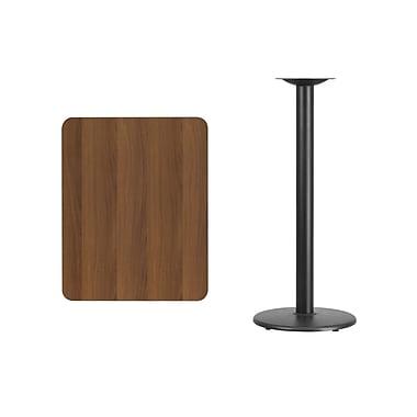 Flash Furniture – Table bistro en stratifié noyer de 24 x 30 po avec base circulaire de 18 po (XUWA2430TR18B)