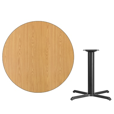 Flash Furniture 42'' Round Laminate Table Top, Natural with 33'' x 33'' Table-Height Base (XURD42NTT3333)