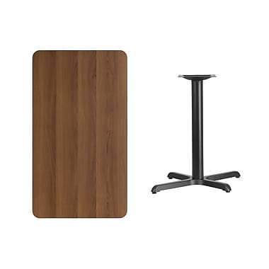 Flash Furniture – Table en stratifié noyer de 24 x 42 po avec base de 22 L po, 30 H po (XUWA2442T2230)