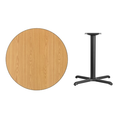 Flash Furniture 36'' Round Laminate Table Top, Natural with 30'' x 30'' Table-Height Base (XURD36NTT3030)