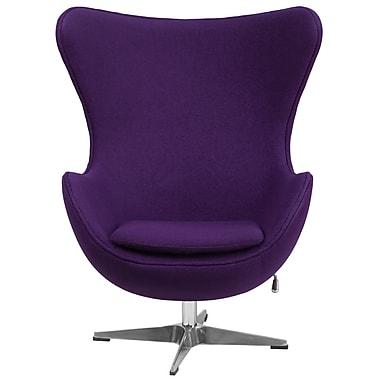 Flash Furniture – Fauteuil coquille en tissu de laine violet à basculement à blocage (ZB16)