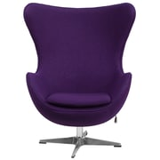 Flash Furniture Purple Wool Fabric Egg Chair with Tilt-Lock Mechanism (ZB16)