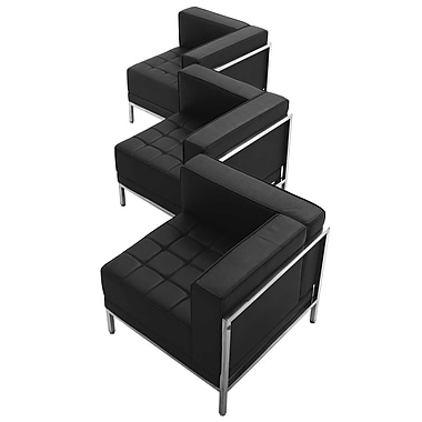 Flash Furniture – Ensemble de 3 sièges en coin HERCULES Imagination en cuir noir (ZBIMAGSET4)