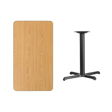 Flash Furniture – Table en stratifié au fini naturel de 24 x 42 po avec base de 22 x 30 po (XUNT2442T2230)