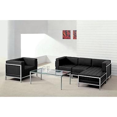 Flash Furniture – Divan modulaire et fauteuil HERCULES Imagination en cuir noir, 5 modules (ZBIMAGSET12)