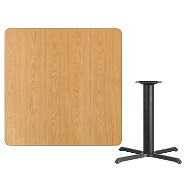 Flash Furniture 42'' Square Laminate Table Top, Natural with 33'' x 33'' Table Height Base (XUNT4242T3333)
