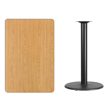 Flash Furniture – Table bistro en stratifié fini naturel de 30 x 45 po avec base circulaire de 24 po (XUNT3045TR24B)