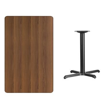 Flash Furniture 30'' x 48'' Rectangular Laminate Table Top, Walnut with 22'' x 30'' Table-Height Base (XUWA3048T2230)
