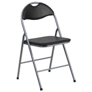 Flash Furniture  Hercules Series Vinyl Metal Folding Chair, Black with Carrying Handle (YBYJ806H)