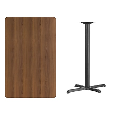 Flash Furniture – Table bistro en stratifié noyer de 30 x 48 po avec base de 22 x 30 po (XUWA3048T2230B)