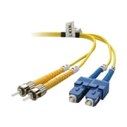 Belkin™ F2F80207-01M 3.3' ST Male/SC Male Single-Mode Fiber Optic Duplex Patch Cable, Yellow