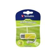 Verbatim ® Store 'n' Go 8GB 10 Mbps Read/4 Mbps Write Mini USB 2.0 Flash Drive, Yellow/Tennis (98511)
