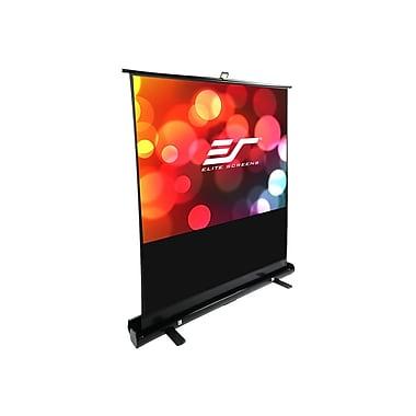 Elite Screens ® ezCinema Plus Series F74XWH1 Manual Floor Mount Projection Screen, 74