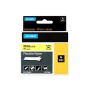 "Dymo ® 138"" x 0.94"" Thermal Transfer Flexible Label Tape, Black on Yellow, 1 Roll (1734525)"