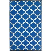 Fab Habitat Rug, 6'L x 9'W, Tangier Regatta Blue and White (788581181690)