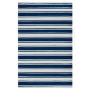 Fab Habitat Lucky, Polypropylene, 4' x 6', Blue and White (810327020724)
