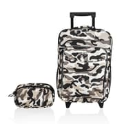 Obersee Kids Camo 2 Piece Suitcase and Toiletry Bag Set
