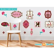 Sunny Decals 16 Piece Paris Wall Decal Set
