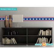 Sunny Decals American Stars Border Wall Decal (Set of 2)
