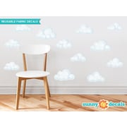 Sunny Decals 12 Piece Modern Clouds Wall Decal Set